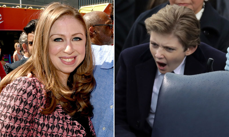 La opinión de Chelsea Clinton sobre la comentada actitud de Barron Trump en la investidura de su padre