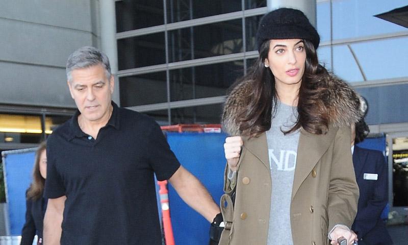 George y Amal Clooney, en España entre rumores de embarazo