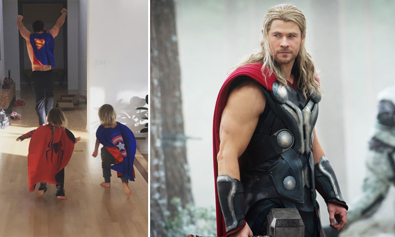 Chris Hemsworth, un maestro superhéroe para sus hijos