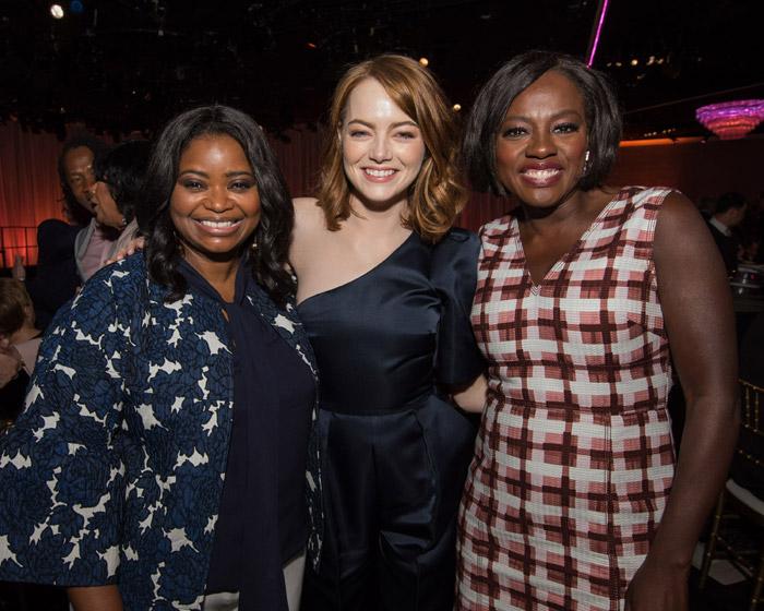 Emma Stone, Viola Davis y Octavia Spencer