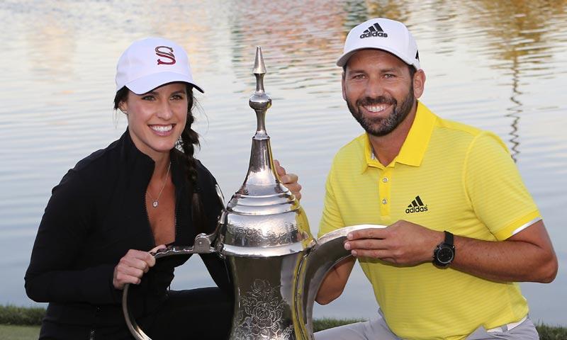 El golfista Sergio García anuncia su boda con la periodista americana Angela Akins
