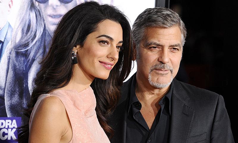 ¡Confirmado! George y Amal Clooney serán padres de gemelos