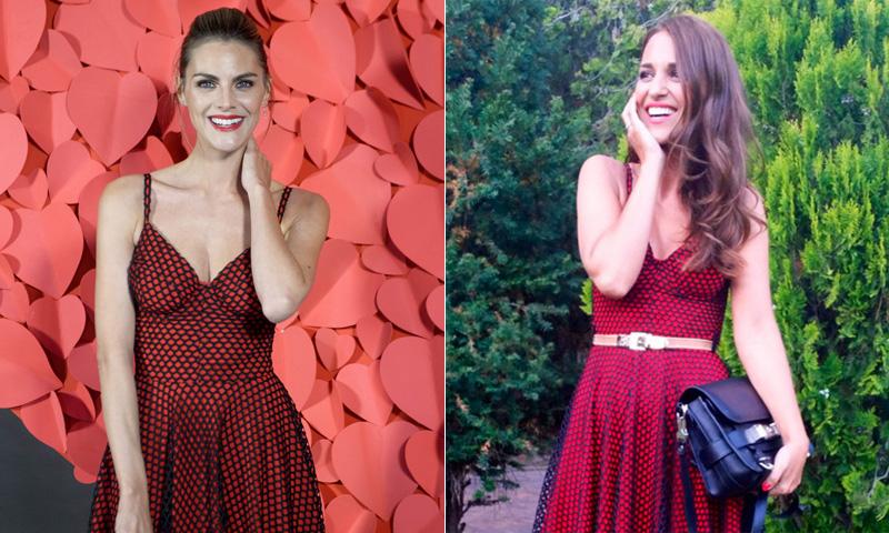 Amaia Salamanca versus Paula Echevarría, dos chicas 'Velvet' con el mismo vestido