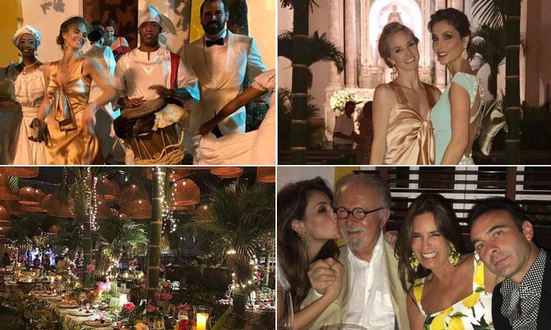 Genoveva Casanova, Paloma Cuevas... Acento español en la gran boda de la nieta de Fernando Botero