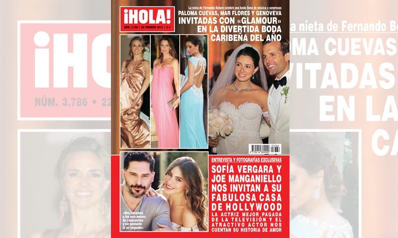 En ¡HOLA!, Paloma Cuevas, Mar Flores y Genoveva Casanova, invitadas con 'glamour' en la divertida boda caribeña del año