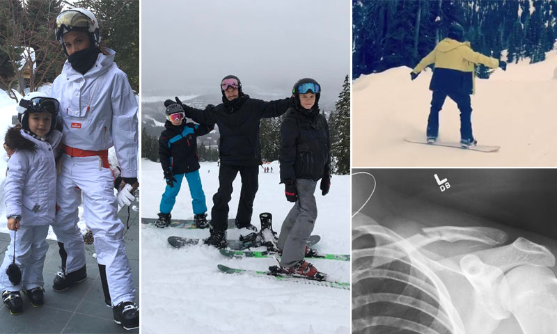 El accidente de Brooklyn Beckham mientras practicaba 'snowboard' en sus idílicas vacaciones familiares