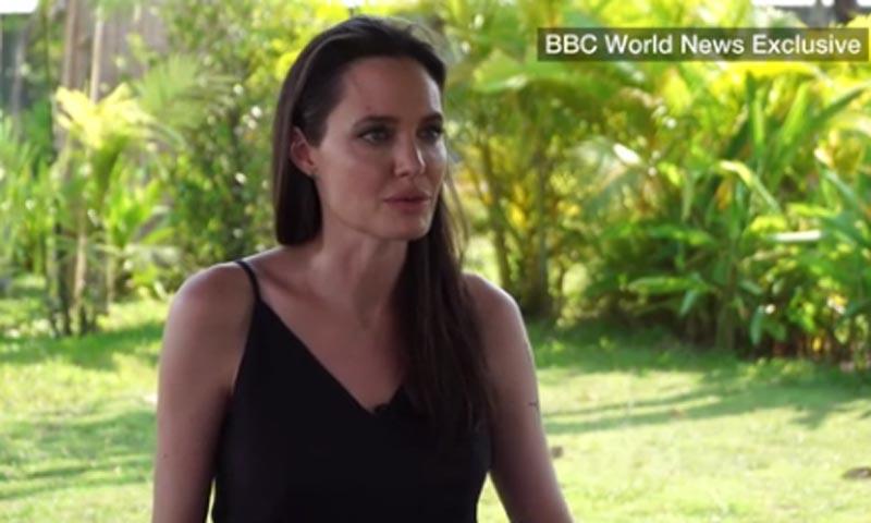 Angelina Jolie, sin poder contener la emoción, habla por primera vez de su divorcio