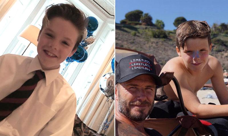 David y Victoria Beckham celebran el cumpleaños de su hijo Cruz... ¡con 'regañina' incluida!