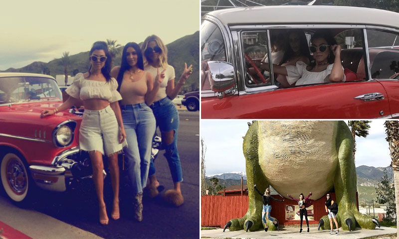 ¡Kardashian 'on the road'! La divertida escapada a Palm Springs de Kim, Khloé y Kourtney
