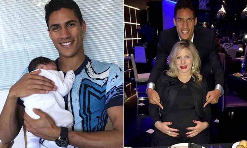 Raphaël Varane, defensa del Real Madrid, ha sido papá de un niño