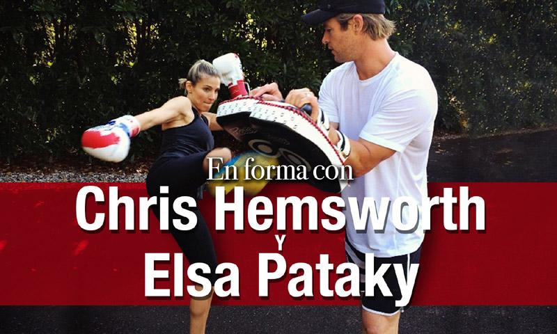 En vídeo: 'Crossfit', surf, boxeo, yoga… ¿Hay algo que se les resista a Chris Hemsworth y Elsa Pataky?