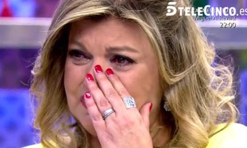Terelu Campos rompe a llorar en directo: 'Hoy no es un día fácil'