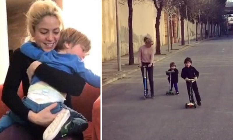 Carreras de patinetes, bailes... ¡Shakira sí que sabe divertirse con sus hijos!