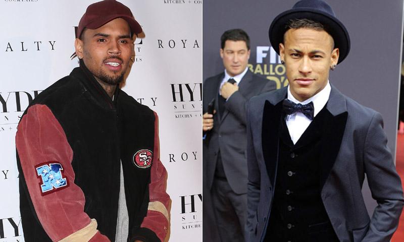 El 'pique' entre Chris Brown y Neymar por la novia del futbolista