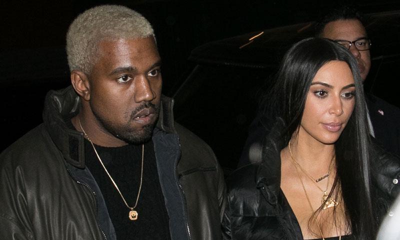 Kim Kardashian y Kanye West asisten desolados al funeral de su pequeño sobrino