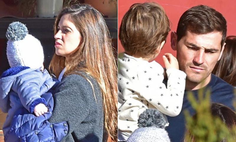 ¡Más 'findes' así!: Sara Carbonero regresa a su pueblo con Iker Casillas y sus hijos