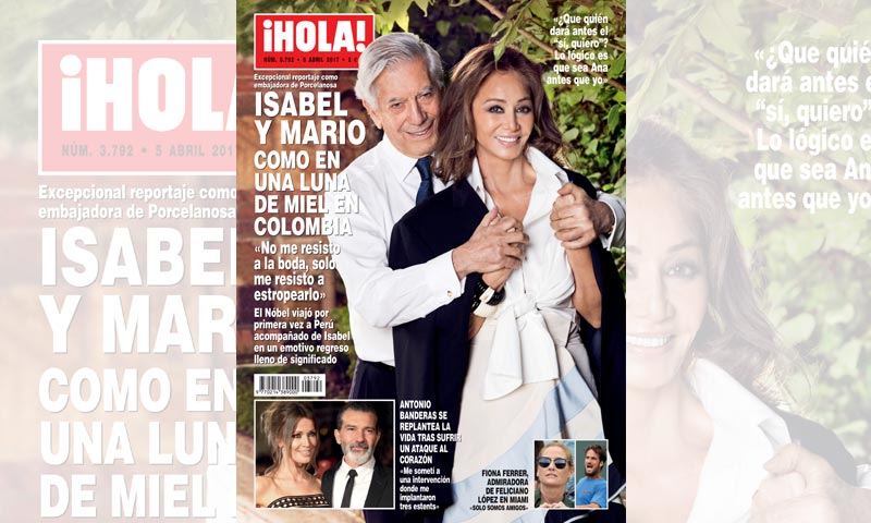 En ¡HOLA!, Isabel Preysler y Mario Vargas Llosa, como en una luna de miel en Colombia