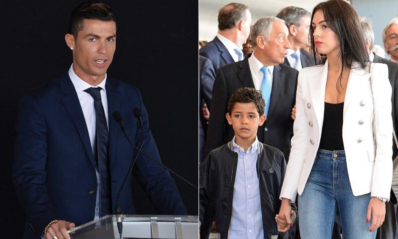 Georgina, bienvenida al Aeropuerto Cristiano Ronaldo de Madeira