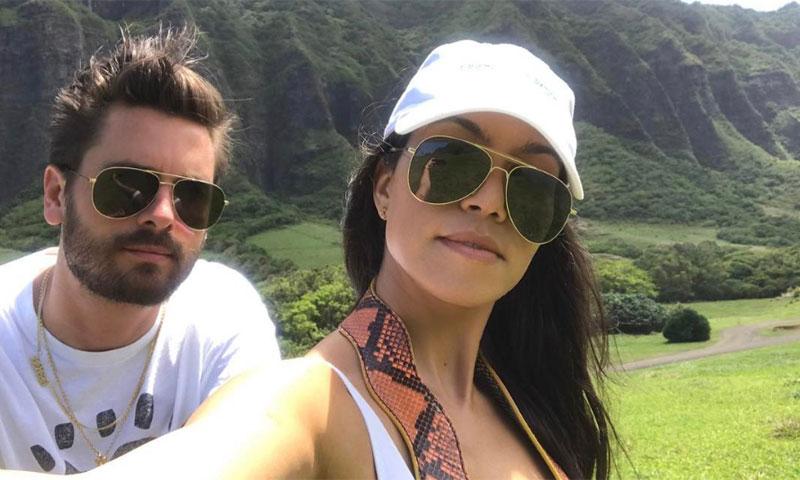 Kourtney Kardashian y Scott Disick, juntos de vacaciones en Hawái