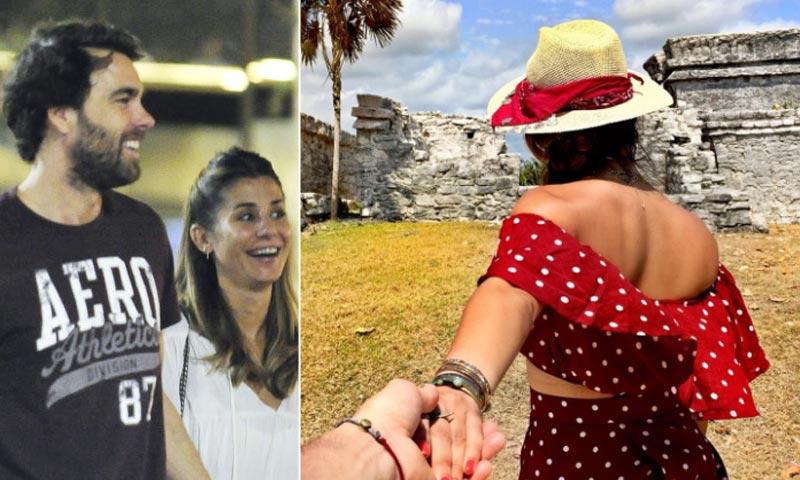 Las vacaciones en el paraíso de Elena Tablada y su novio, Javier Ungría