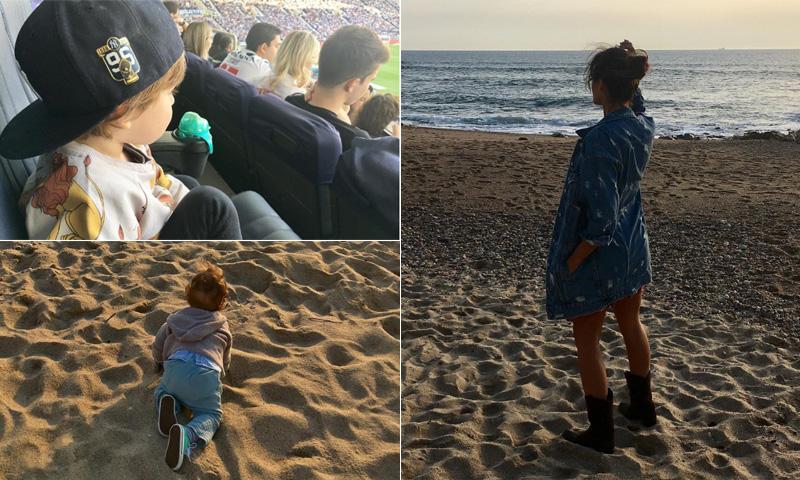 Días de playa, fútbol… Así están siendo las vacaciones de Sara Carbonero con sus hijos