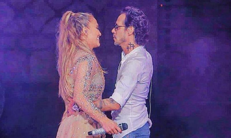 Jennifer López le niega un beso a Marc Anthony ¿Cuál fue el motivo?