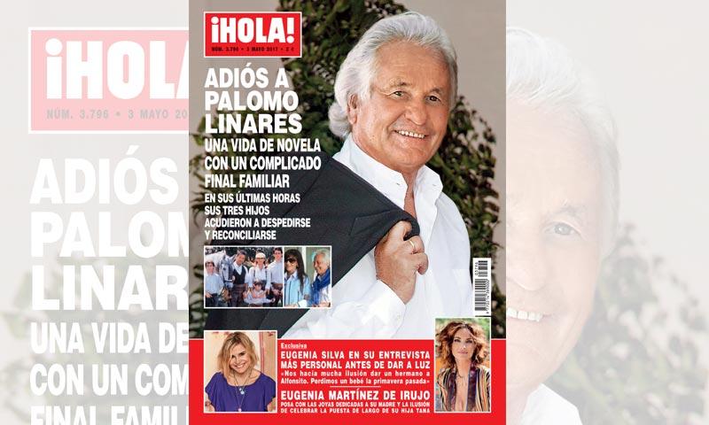 En ¡HOLA!, adiós a Palomo Linares: en sus últimas horas sus tres hijos acudieron a despedirse y reconciliarse