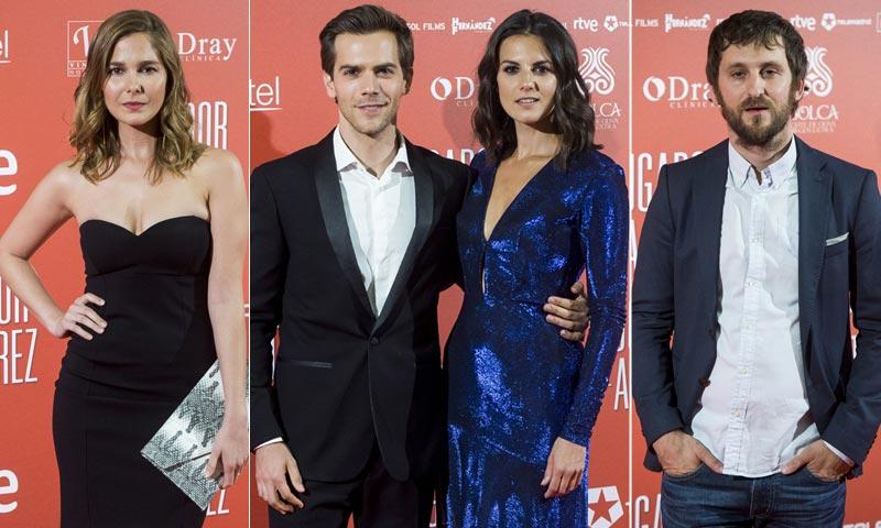 Marc Clotet y Melina Matthews, de estreno con sus respectivas parejas, Natalia Sánchez y Raúl Arévalo