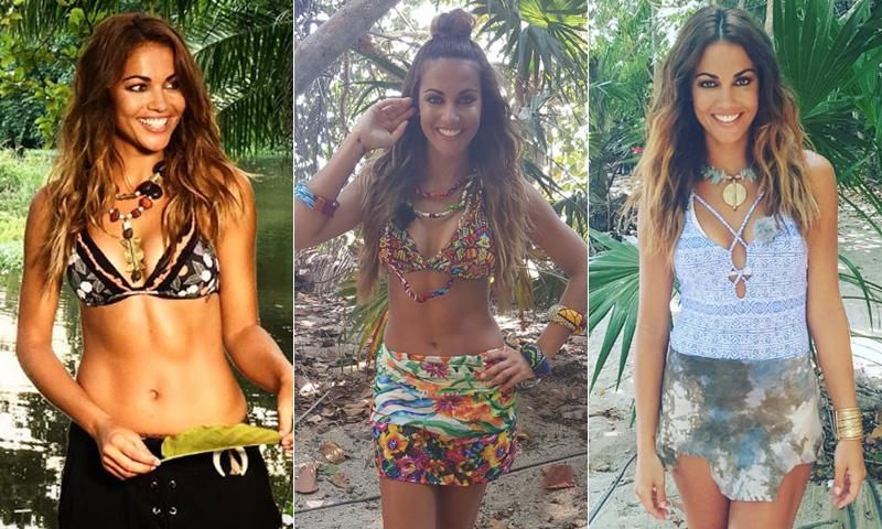 ¿Sin ideas para la playa? Toma nota de los 'looks' de Lara Álvarez en 'Supervivientes'
