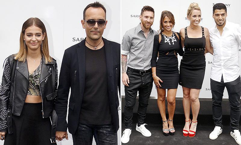 A dos días de su boda, Laura Escanes y Risto Mejide se van de fiesta con los jugadores del Barça