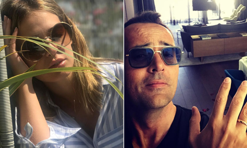 Risto Mejide y Laura Escanes ya lucen sus anillos de casados