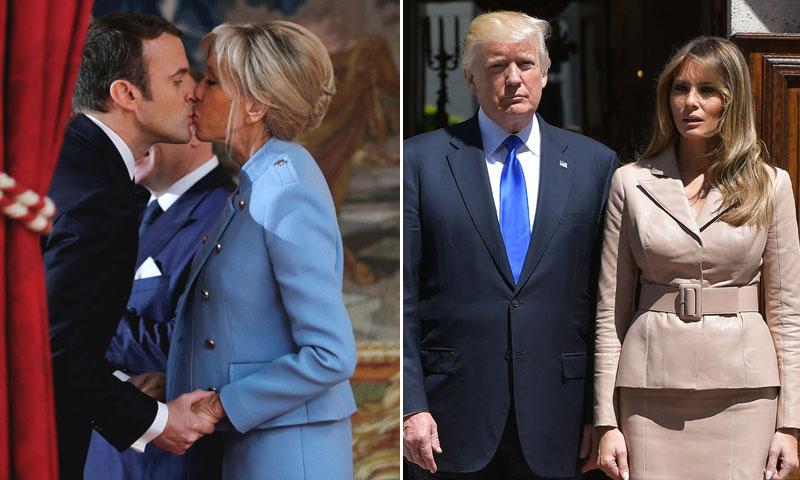 Macron 'vs' Trump: las grandes diferencias de los dos matrimonios presidenciales del momento