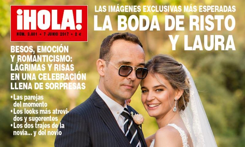 ¡HOLA! adelanta su edición: las imágenes exclusivas más esperadas de la boda de Risto y Laura