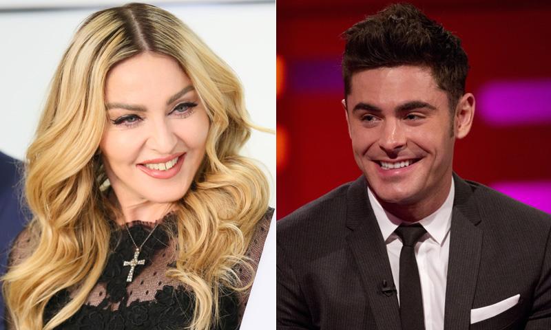 ¿Pasó algo entre Zac Efron y Madonna?