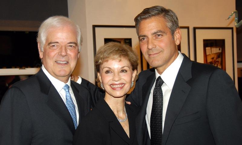 Los padres de George Clooney ya conocen a sus nietos, ¡vía Skype!