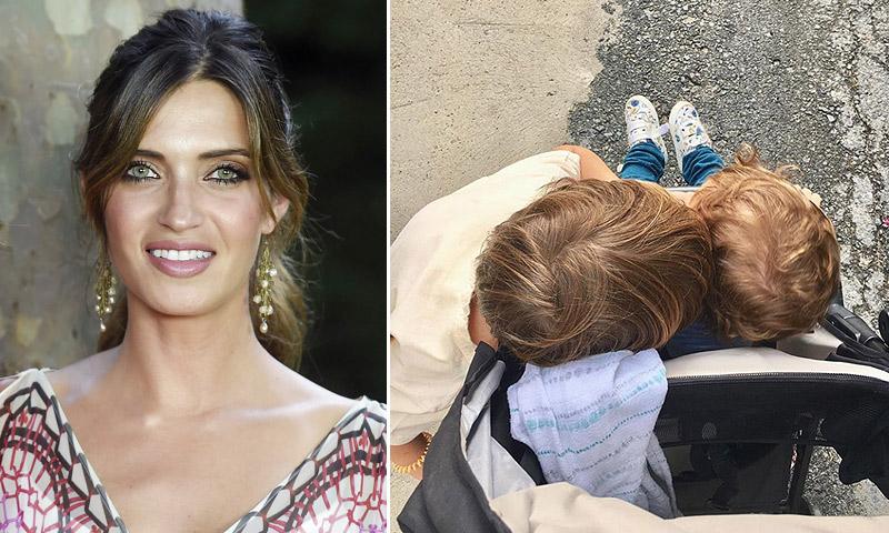 ¿Dónde se ha ido Sara Carbonero con sus dos 'rubios peligrosos'?