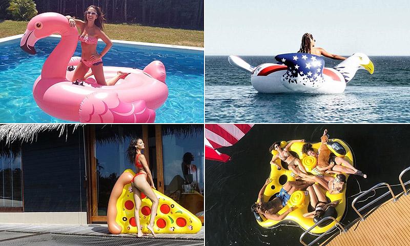 Desde Kendall Jenner a Paula Echevarría... ¡Este verano se llevan los flotadores originales!