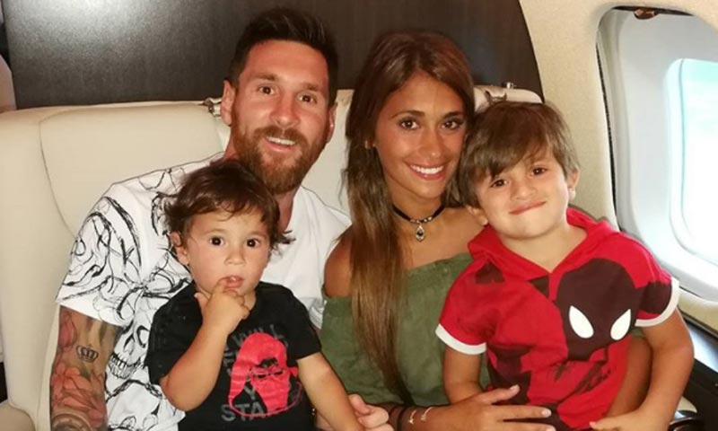 ¡Para comérselos! Messi y Antonela ponen fin a su luna de miel con sus hijos
