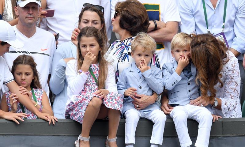 Sus cuatro hijos, los fans más divertidos de Roger Federer