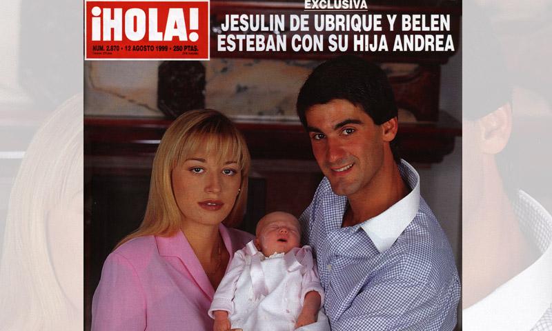 Así presentaron Belén Esteban y Jesulín de Ubrique a su hija Andrea en las páginas de ¡HOLA!