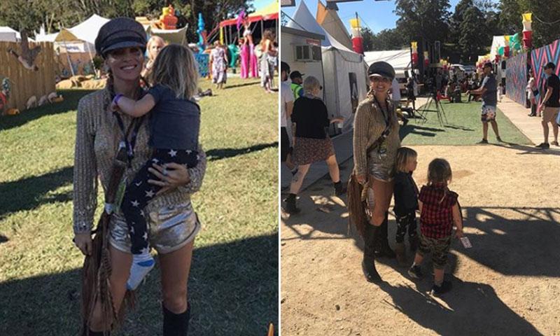 Elsa Pataky se va de festival con sus hijos para verles disfrutar de su primer concierto