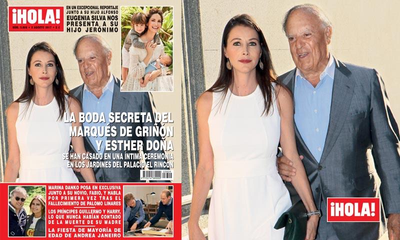 En ¡HOLA!, la boda secreta del Marqués de Griñón y Esther Doña
