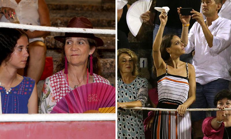 La infanta Elena, con sus hijos, y Eva González no quisieron perderse la corrida de toros de los hermanos Rivera