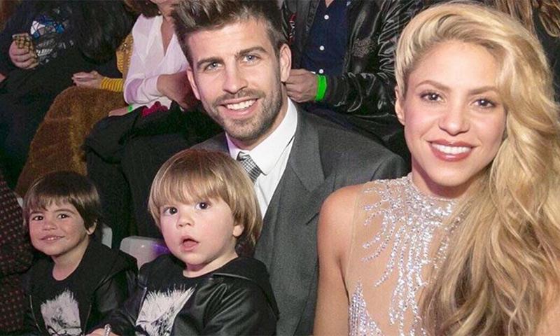 Shakira y Piqué se llevan a sus hijos de fiestas populares