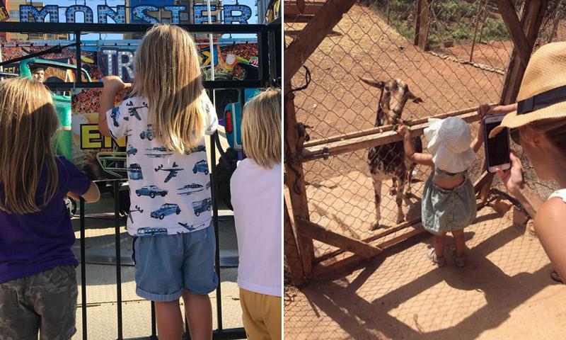 Elsa Pataky y Vanesa Lorenzo, día de campo y atracciones con sus hijos