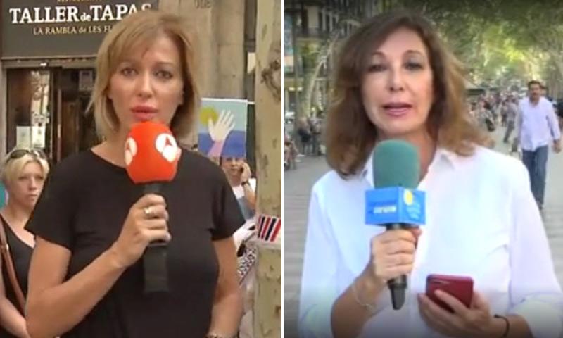 Susanna Griso y Ana Rosa Quintana suspenden sus vacaciones para cubrir los atentados de Barcelona