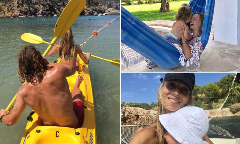 Familia, romanticismo, diversión... Las vacaciones de Vanesa Lorenzo y Carles Puyol en Ibiza