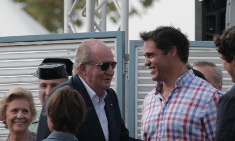 El rey Juan Carlos y Luis Alfonso de Borbón, juntos en la entrega de premios del Torneo Internacional de Polo de Sotogrande