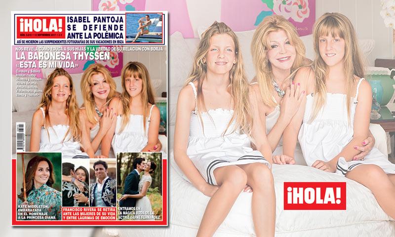 En ¡HOLA!, la baronesa Thyssen nos revela cómo educa a sus hijas y la verdad de su relación con Borja
