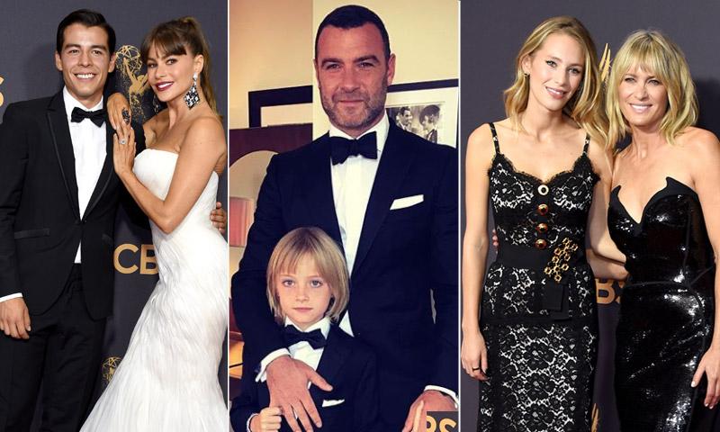 Sus hijos, los mejores aliados de Robin Wright, Sofía Vergara y Liev Schreiber en los Emmy